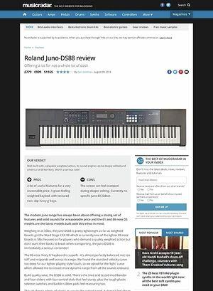 MusicRadar.com Roland Juno-DS88
