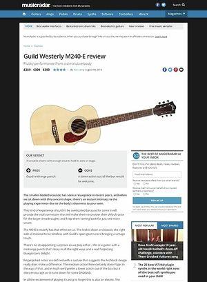 MusicRadar.com Guild Westerly M240-E