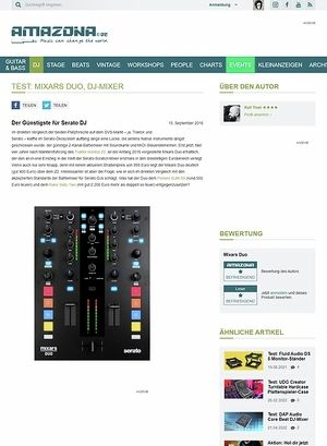 Amazona.de Test: Mixars Duo, DJ-Mixer