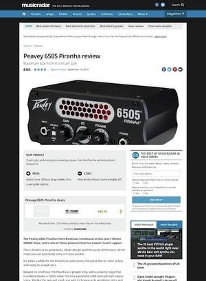 MusicRadar.com Peavey 6505 Piranha