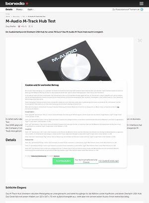 Bonedo.de M-Audio M-Track Hub