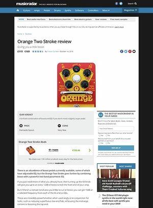 MusicRadar.com Orange Two Stroke