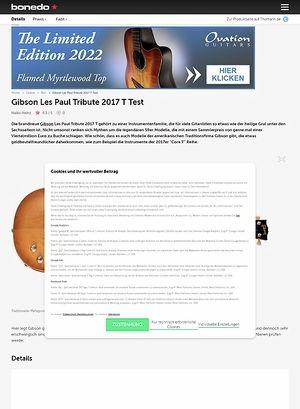 Bonedo.de Gibson Les Paul Tribute T 2017
