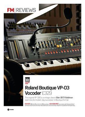 Future Music Roland Boutique VP-03 Vocoder