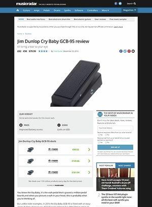 MusicRadar.com Dunlop Cry Baby GCB-95