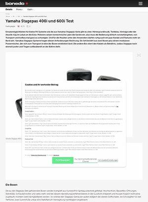 Bonedo.de Yamaha Stagepas 400i und 600i
