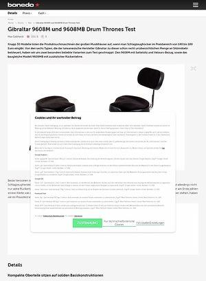 Bonedo.de Gibraltar 9608M und 9608MB Drum Thrones