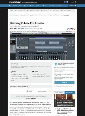 MusicRadar.com Steinberg Cubase Pro 9
