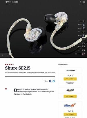 Kopfhoerer.de Shure SE215-CL