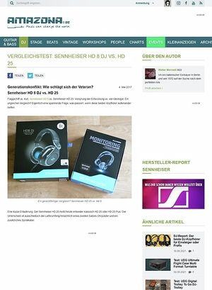 Amazona.de Sennheiser HD 8 DJ vs. HD 25