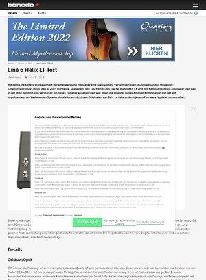 Bonedo.de Line 6 Helix LT