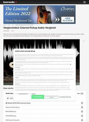 Bonedo.de Pickup Testmarathon Audio Vergleich