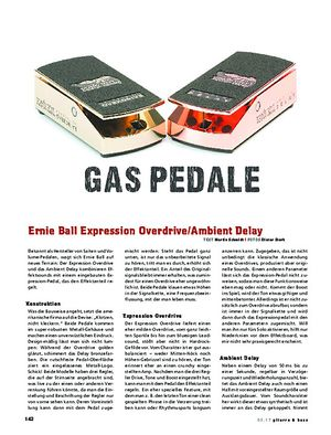 Gitarre & Bass Ernie Ball Expression Overdrive/Ambient Delay