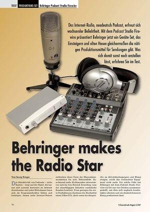 Professional Audio Behringer makes the Radio Star: Podcast Studio FW