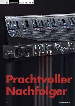 Professional Audio Prachtvoller Nachfolger Focusrite Saffire PRO 40