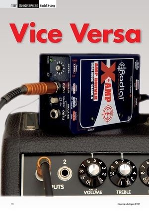 Professional Audio Vice Versa: Radial X-Amp