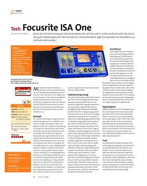 Beat Test: Focusrite ISA One