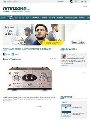 Amazona.de Test: Avalon U5 High Voltage Direct Box