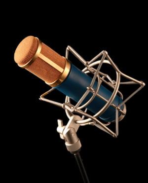 Microphones large membrane à condensateur