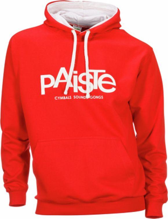 Contrast Hoody Red M Paiste