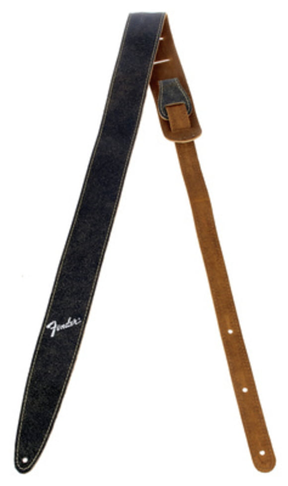 Distressed Leather Strap BK Fender