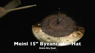 Meinl Byzance Serie 15 Extra Dry Dual Hi-Hat