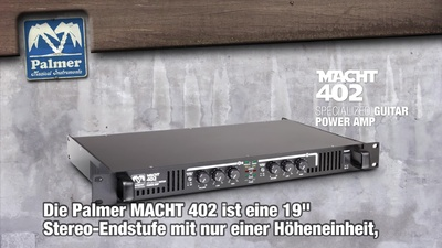 Palmer Macht 402 - 19 Zoll Stereo-Endstufe