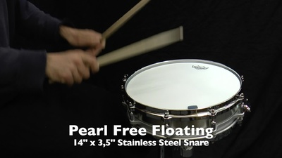 Pearl 14x3,5 Free Floating Stainless Steel Snare
